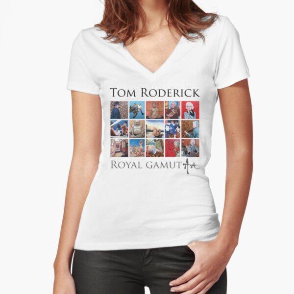 Tom Roderick - Royal Gamut Art Fitted V-Neck T-Shirt