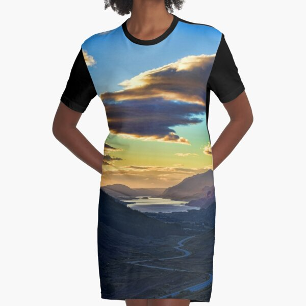 Looking West to Loch Maree-Scotland Graphic T-Shirt Dress