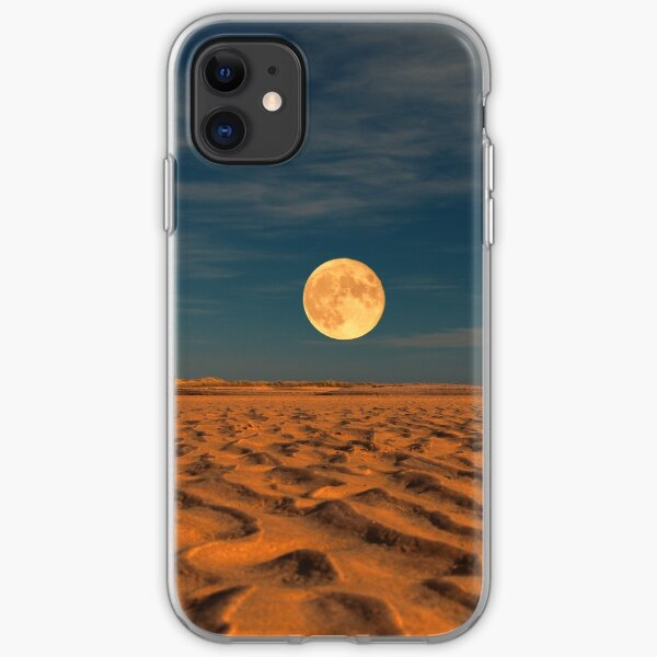 Moon across the Sands iPhone Soft Case