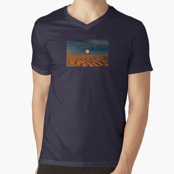 Moon across the Sands V-Neck T-Shirt
