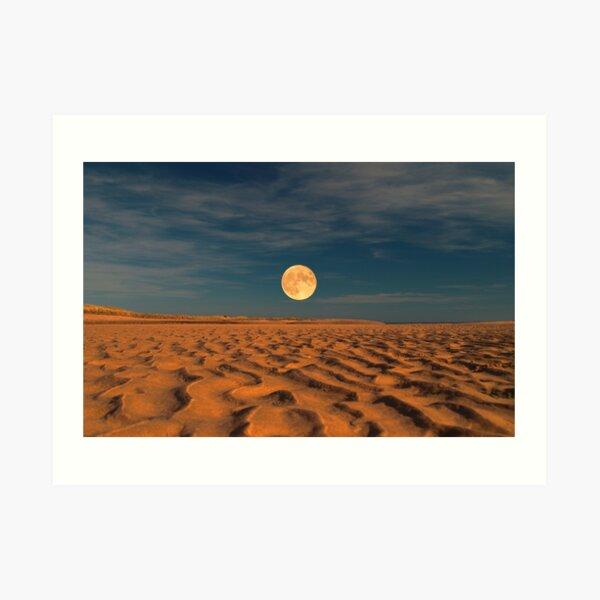 Moon across the Sands Art Print