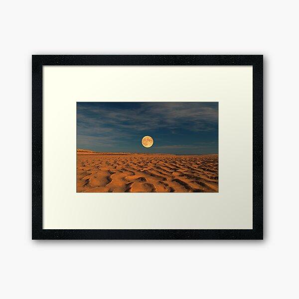 Moon across the Sands Framed Art Print