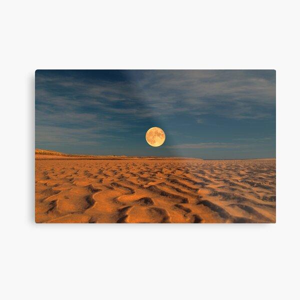 Moon across the Sands Metal Print