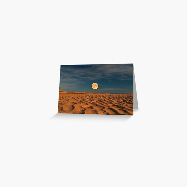 Moon across the Sands Greeting Card