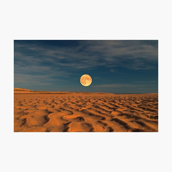 Moon across the Sands Photographic Print