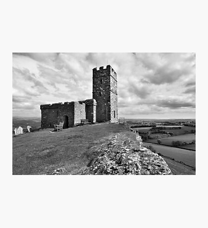 Brentor Church - Devon - mono Photographic Print