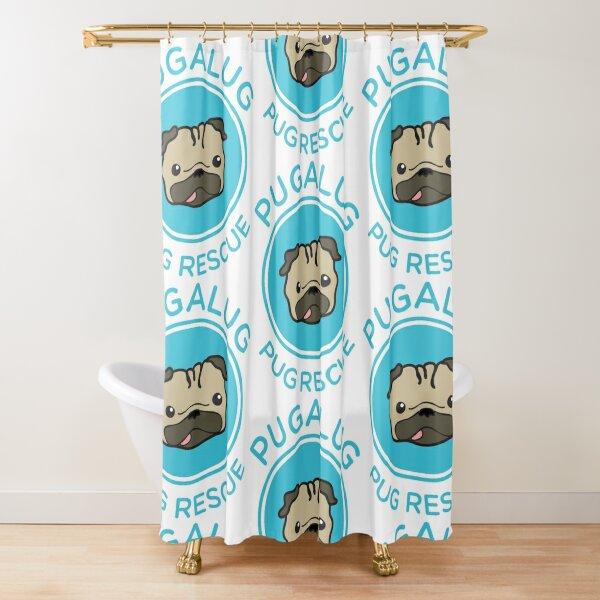 Classic Pugalug logo Shower Curtain