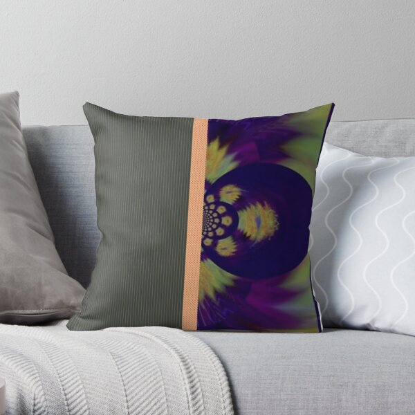 Indigo Lights 1 Throw Pillow