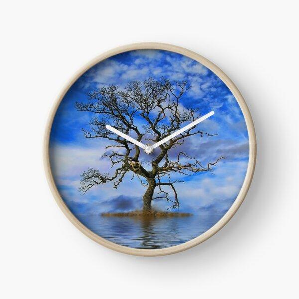 Tree On An Island Clock