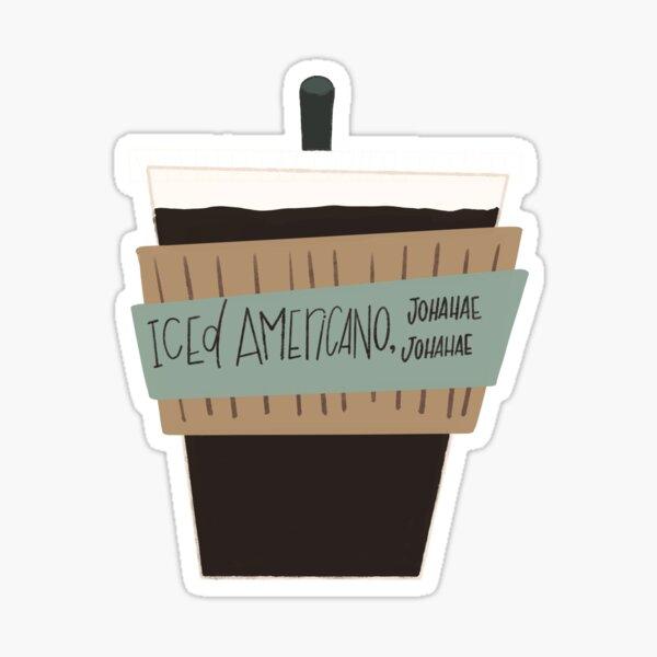 Hyunjin Iced Americano Pegatina