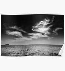 Foxhead cloud over Island Poster