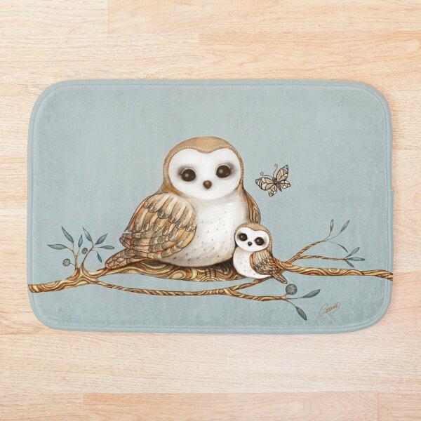 Baby Barn Owl Bath Mat