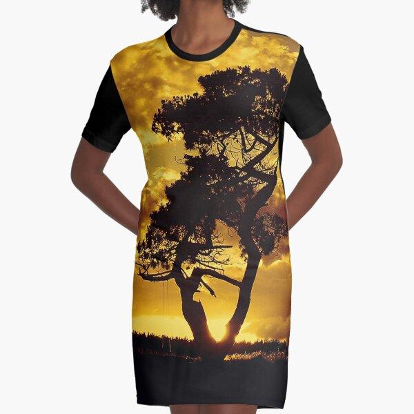 Tree Dance 2 Graphic T-Shirt Dress