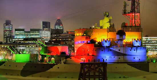 HMS Belfast - Christmas - HDR by Colin  Williams Photography