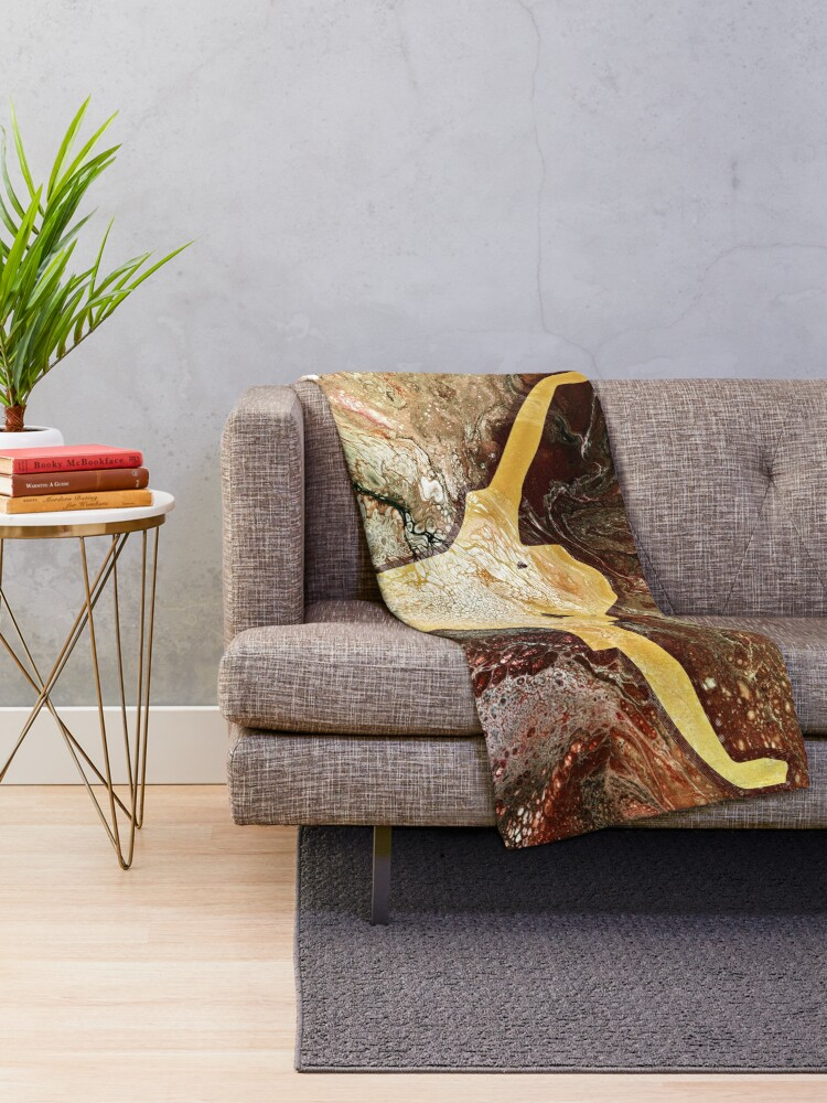 Alternate view of Classical Element: Earth Throw Blanket