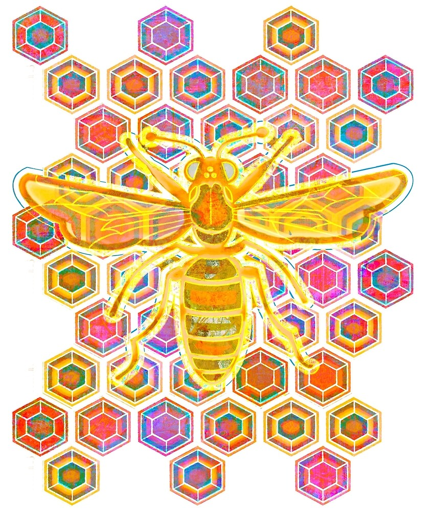 Jewel Tone Bee by evisionarts