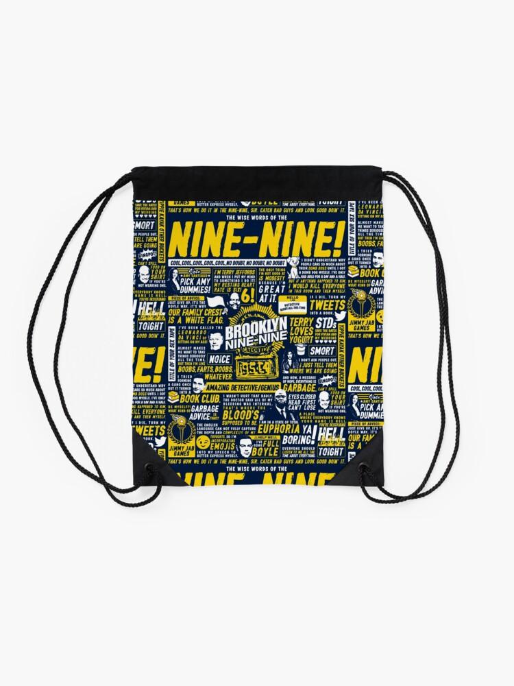 Alternate view of Wise Words of the Nine-Nine Drawstring Bag