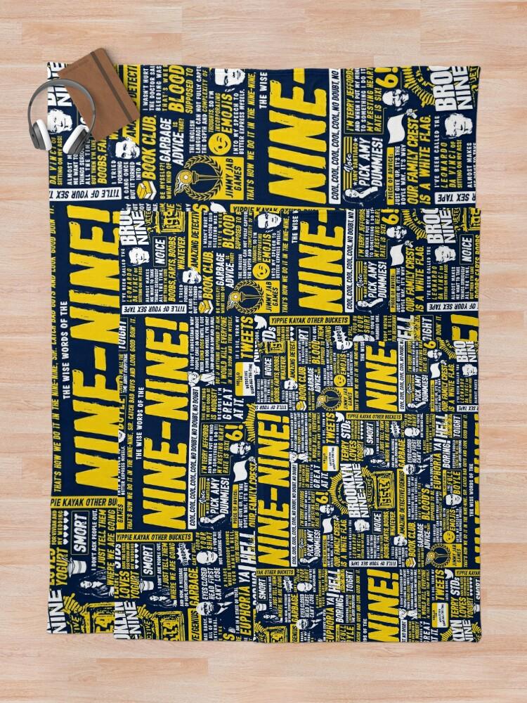 Alternate view of Wise Words of the Nine-Nine Throw Blanket