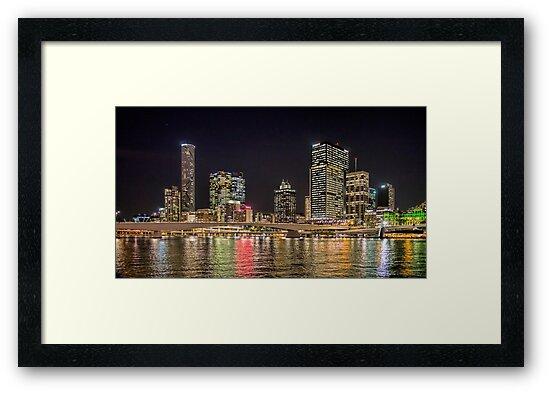 Brisbane CBD from South Bank by bidkev1