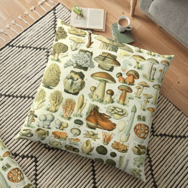 Wild Mushroom Chart Floor Pillow