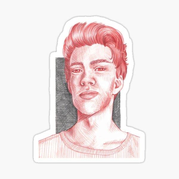Crosshatch Portrait Sticker