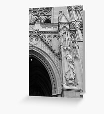 church sculpture Greeting Card
