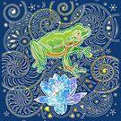 Zen Frog by evisionarts