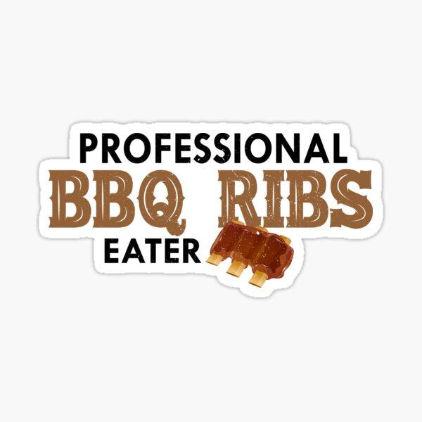 Professional BBQ Ribs Eater Sticker