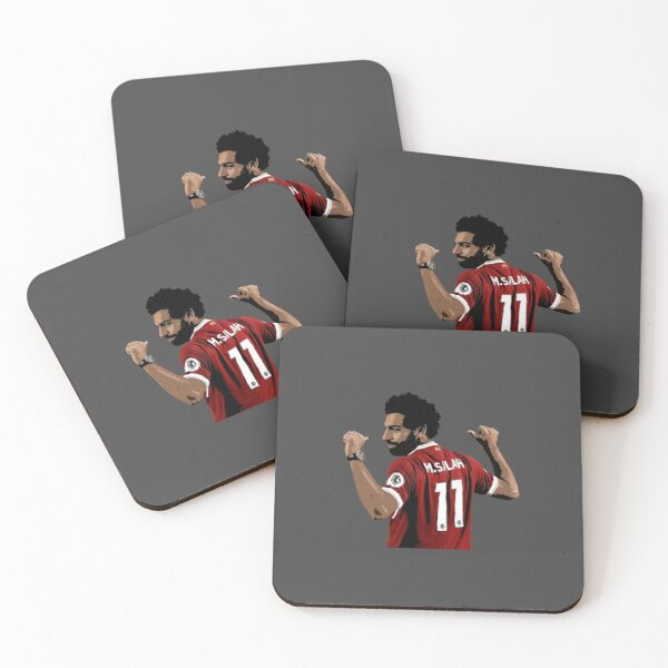 Mo Salah Design Coasters (Set of 4)
