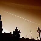 Wellington Statue silhouette from Bank Station, London by Chris Millar