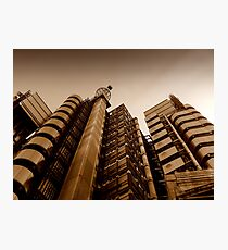 Lloyds' metallic turrets, Gresham Street, London Photographic Print