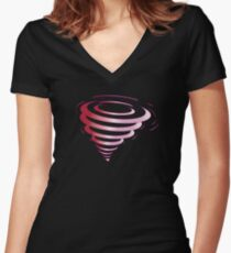 Pink Tornado Women's Fitted V-Neck T-Shirt