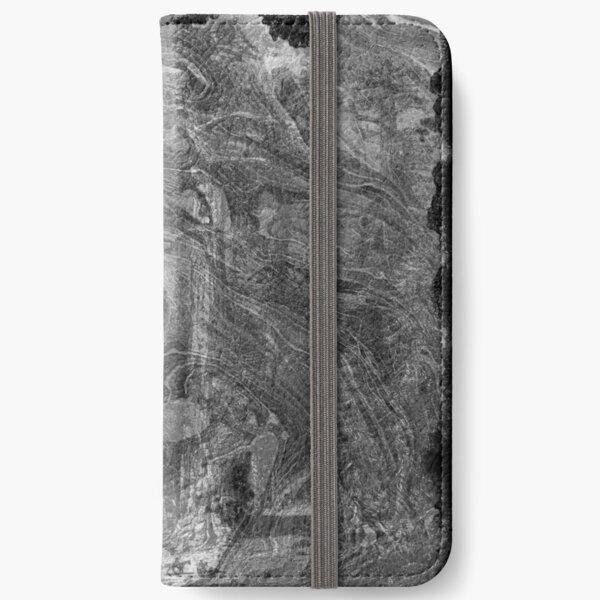The Atlas of Dreams - Plate 30 (b&w) iPhone Wallet