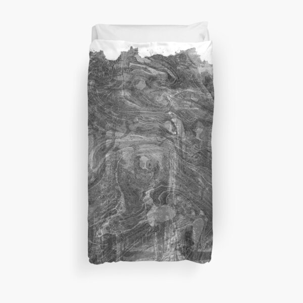 The Atlas of Dreams - Plate 30 (b&w) Duvet Cover