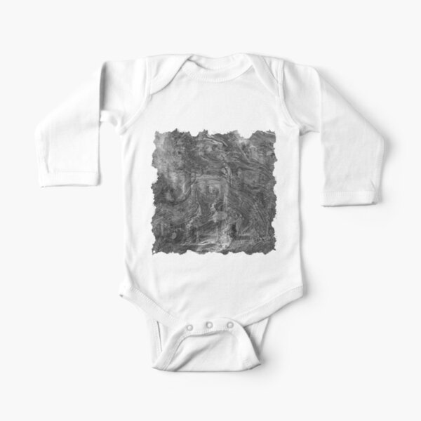 The Atlas of Dreams - Plate 30 (b&w) Long Sleeve Baby One-Piece