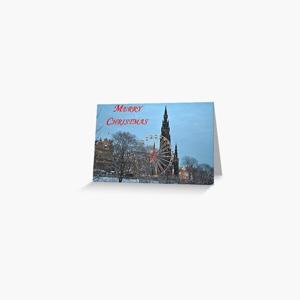 Christmas Card from Edinburgh Greeting Card