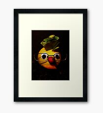 Laughter + fruit + vegetables = health Framed Print
