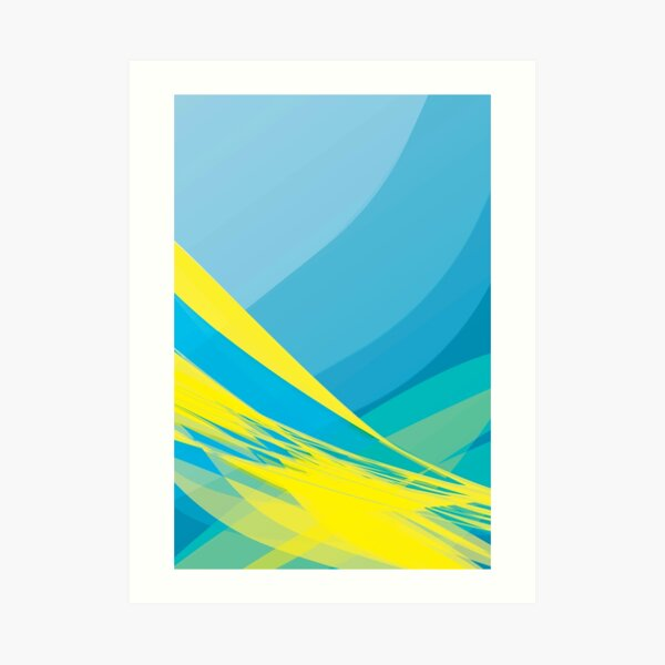 Yellow Wave Art Print