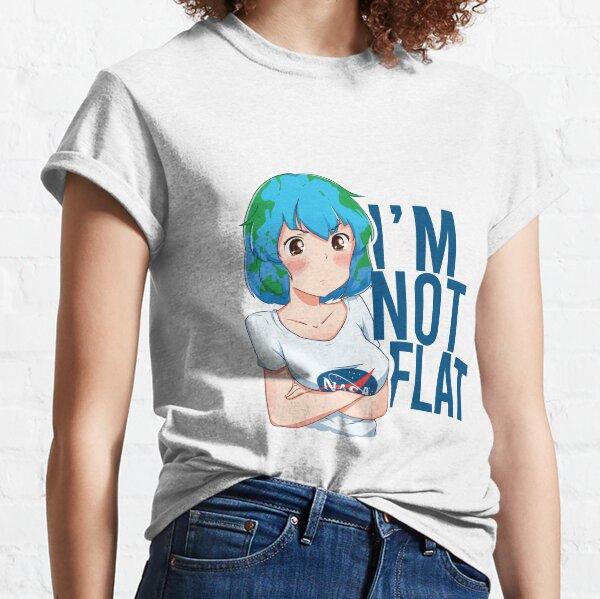 Earth chan I'm not flat Classic T-Shirt