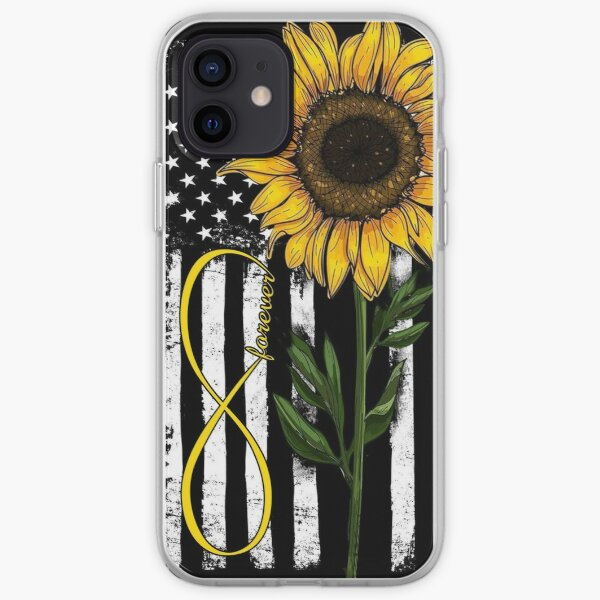Forever American Flag Sunflower Phone Case for iPhone 5 5s SE 6 6s 7 8 Plus X XR XS Max, Samsung iPhone Soft Case