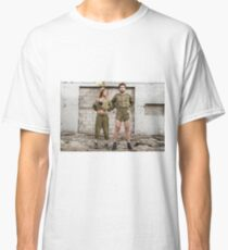 Models in Israeli Army uniform is a deserted location  Classic T-Shirt
