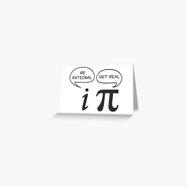 math joke Greeting Card