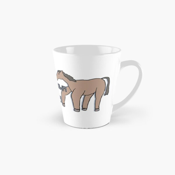 Horse Drawn from Memory (double horse) Tall Mug