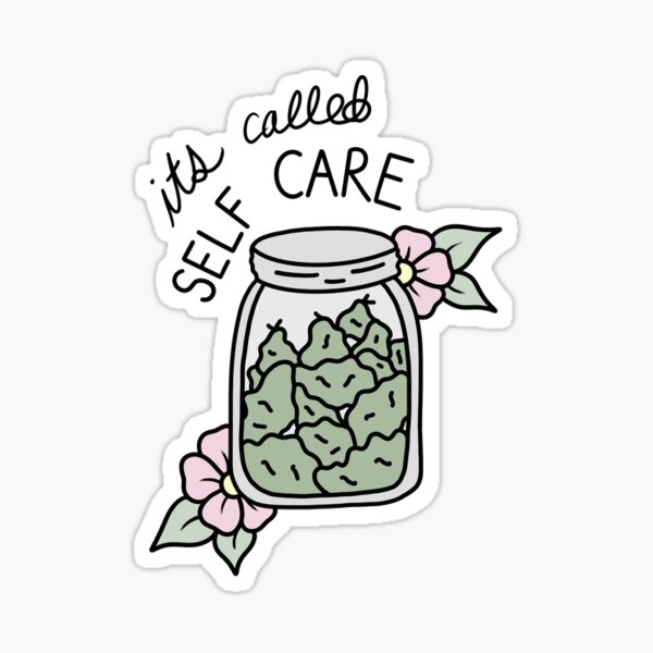 Self care weed jar Sticker