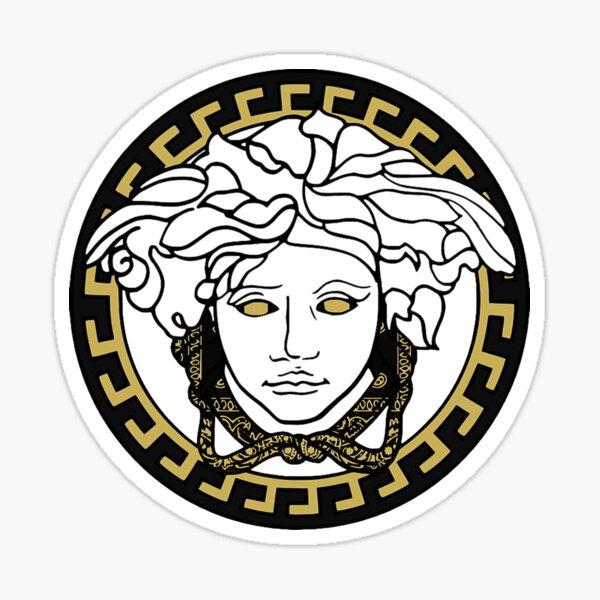 Black Gold Versace Sticker