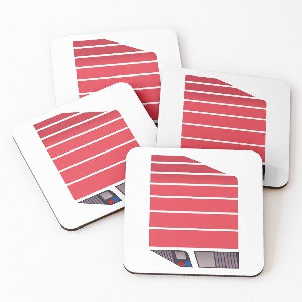 Magnum Futuristic Design (Red) Coasters (Set of 4)