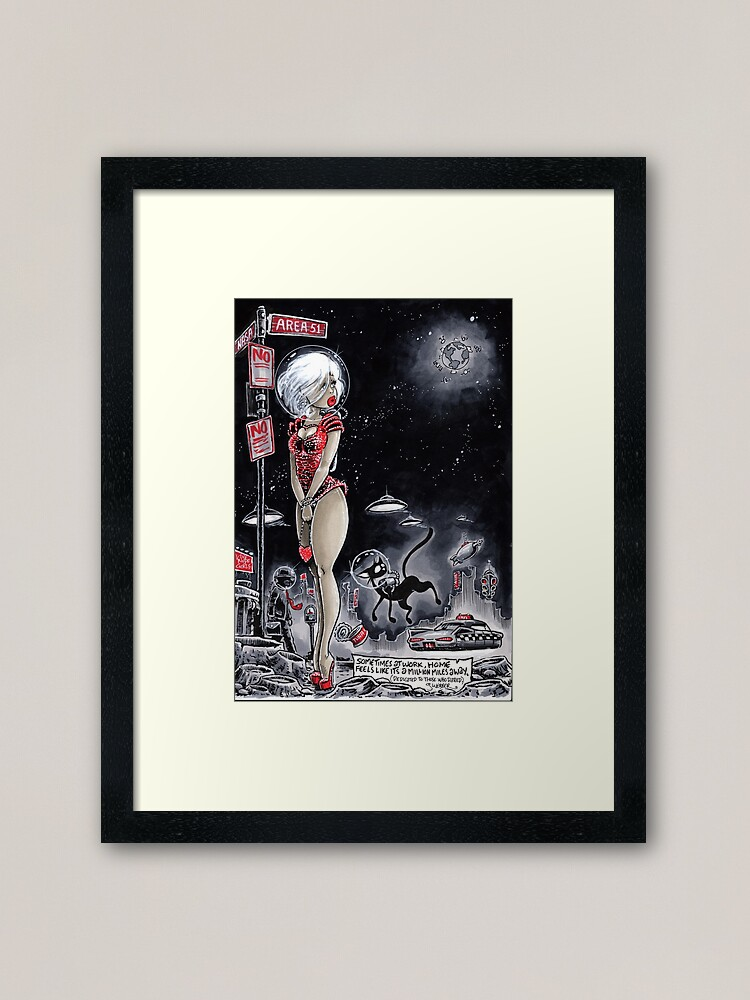 Alternate view of A Million Miles Framed Art Print