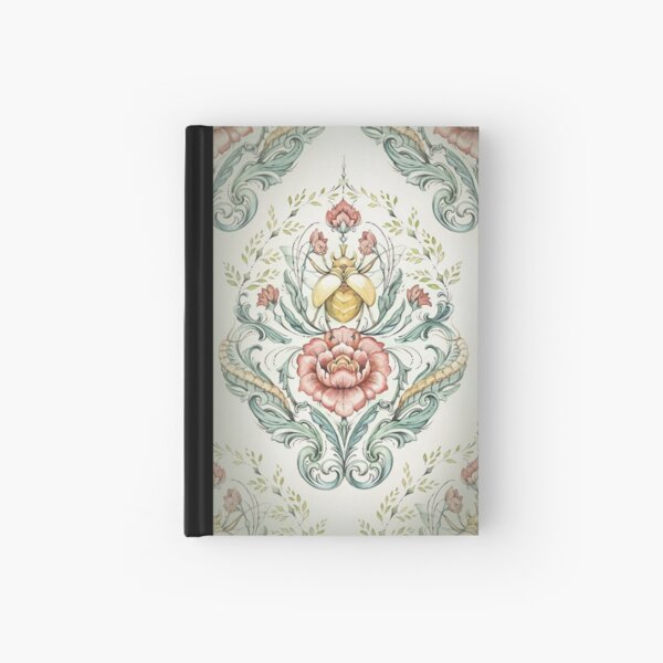 Antique pattern - Beetle and centipedes Hardcover Journal