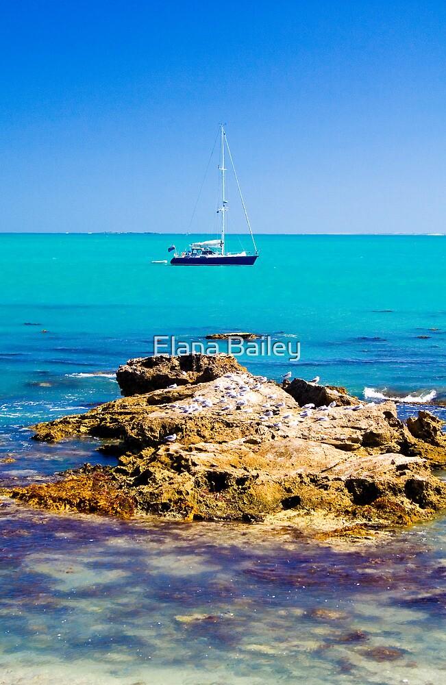 Boat with rocks at Robe by Elana Bailey
