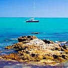 Boat with rocks at Robe by Elana Bailey